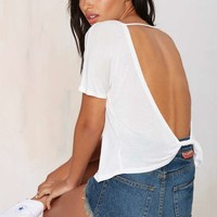 Nasty Gal Summer Lovin' Low-Back Tee - White