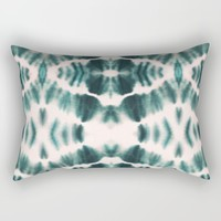 BOHEMIAN EMERALD SHIBORI Rectangular Pillow by Nika