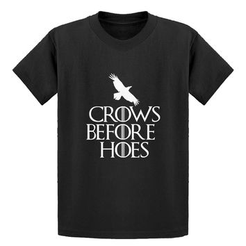 Youth Crows Before Hoes Kids T-shirt