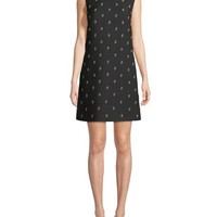 Valentino Collared Floral Crepe Couture Dress