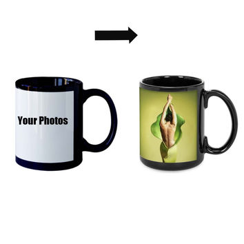Design Custom Made Luminous Mugs Glowing Cup Mug Heat Changing Color Coffee Mugs Heat Sensitive