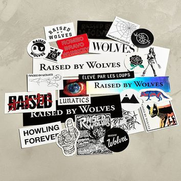 Raised By Wolves Assorted Stickers | Urban Outfitters