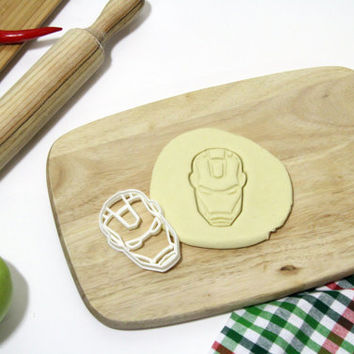 Iron Man Cookie Cutter Ironman Cookie Cutter Cupcake topper Fondant Gingerbread Cutters - Made from Eco Friendly Material
