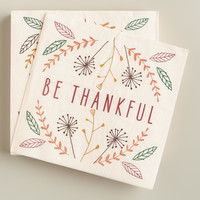 Be Thankful Beverage Napkins, 20-Count - World Market