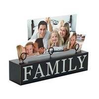 "Malden 3 Photo ""Family' Stand Picture Frame"
