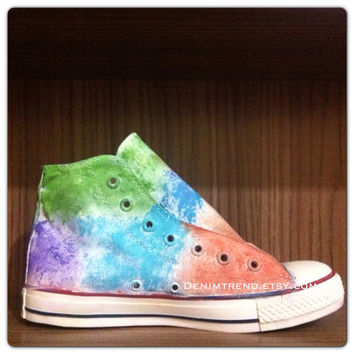 Painted Converse Shoes with Vintage Look