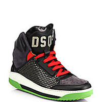 DSQUARED - Vitello Studded Sport High-Top Sneakers - Saks Fifth Avenue Mobile