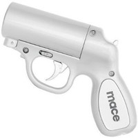 Mace® Pepper Gun Silver, Sprays from any Angle up to 25', Trigger Activated LED for Better Aim: Amazon.com: Industrial & Scientific