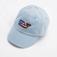 Boys Flag Whale Patch Baseball Hat