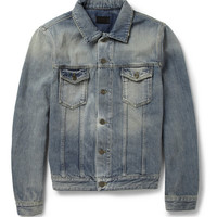 Saint Laurent - Slim-Fit Washed-Denim Jacket | MR PORTER