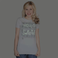 Hello Sweetie Glow-in-the-dark Ladies' Tee