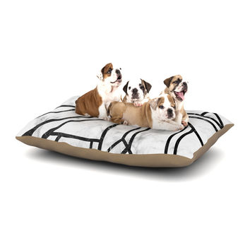 "KESS Original ""Black Marble Mosaic"" Geometric Modern Dog Bed"