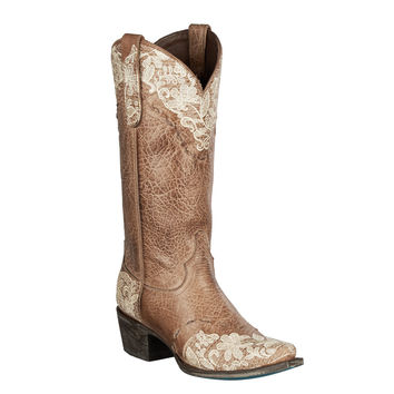 Lane Boots - Jeni Lace Brown