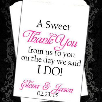 WB180 - A Sweet Thank You // Wedding Buffet // Thank You Favors // Wedding favor // Candy Buffet // Wedding Candy Bag // Popcorn Bags //