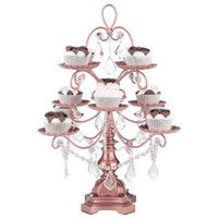 12-Piece Vintage Crystal-Draped Cupcake Stand (Rose Gold)