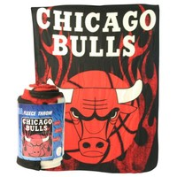 "Chicago Bulls ""Flames"" Lightweight Fleece Blanket (Measures 50"" x 60"")"