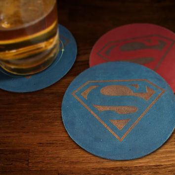 The Superest of Men Drink Coaster
