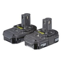 Ryobi, 18-Volt ONE+ Compact Lithium-Ion Battery (2-Pack), P170 at The Home Depot - Mobile