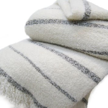 Lambswool and Angora Mohair Queen, King Size Blankets, No Synthetics, in Various Colors