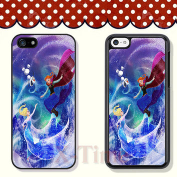 Disney Princess, Frozen, iPhone 5 case iPhone 5c case iPhone 5s case iPhone 4 case iPhone 4s case, Samsung Galaxy S3 \S4 Case--X51117