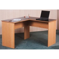 Orion L-Desk, Black and Oak - Walmart.com