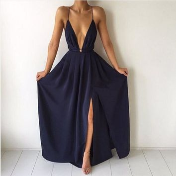 Dark Blue Catalina Maxi Dress