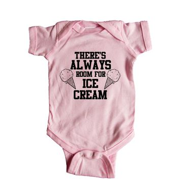 Theres Always Room For Ice Cream Baby Onesuit