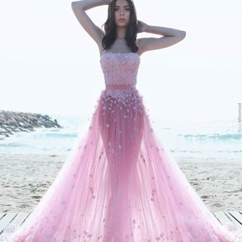 Lovely Pink Prom Dresses, Prom Dresses,Long Evening Dress