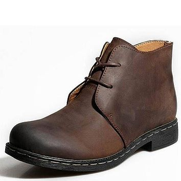 Men's Vintage Style Genuine Leather Boots
