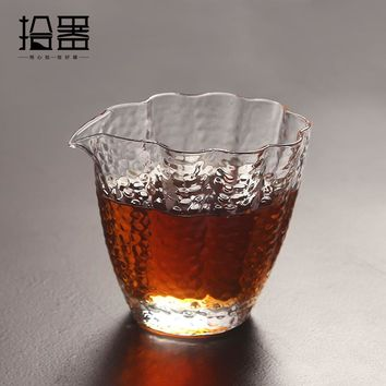 350ml Japanese Handmade Heat Resistant Glass Insulated Clear Teacup Kung Fu Tea Drink Coffee Tea Set Kettle Travel Portable Cup