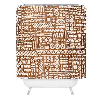 Nick Nelson Northwoods Pattern Shower Curtain