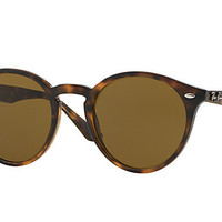 Ray Ban Round Sunglass Dark Havana Dark Brown RB 2180 710/73