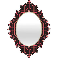 Caroline Okun Autumn Lattice Baroque Mirror