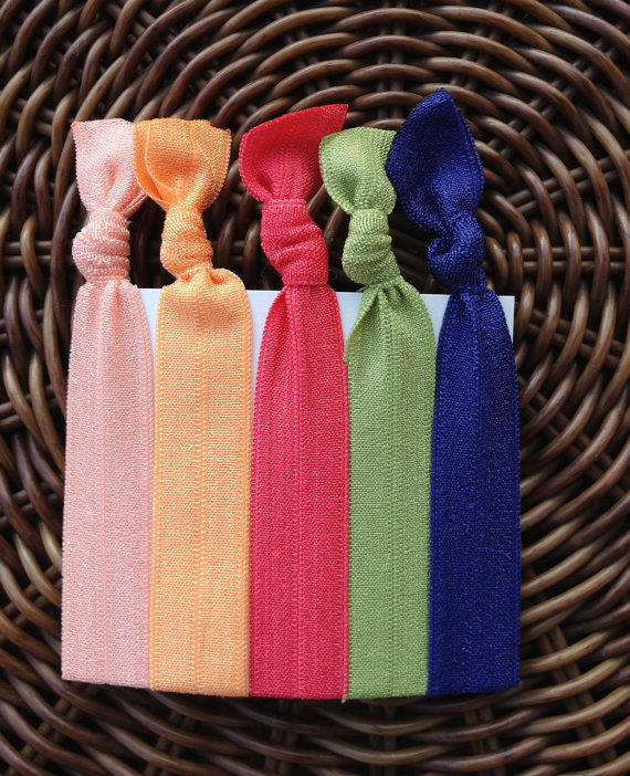 The Summer Breeze Elastic Hair Ties (and bracelets) Collection