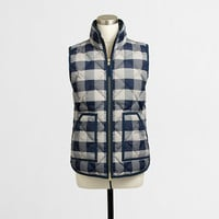 Factory novelty quilted puffer vest : Outerwear | J.Crew Factory