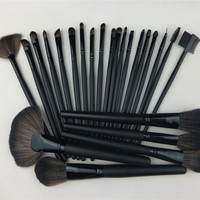 Big Discount !Professional 24Pcs 24 Pcs Cosmetic Facial Make Up Brush Kit Makeup Brushes Tools Set + Leather Case ,Free Shipping