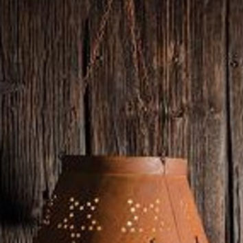 Rusty Star Colander Hanging Lamp Shade