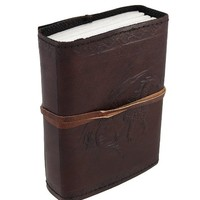 Embossed Leather Dragon Journal with Leather Cord 3 1/2 in. X 5 in.