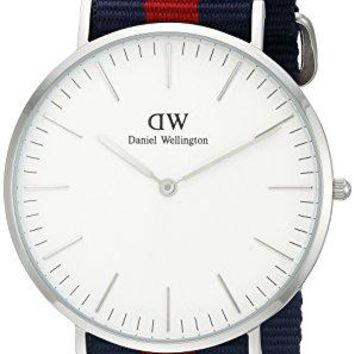 Daniel Wellington Men's 0201DW Oxford Stainless Steel Watch With Striped Nylon Band