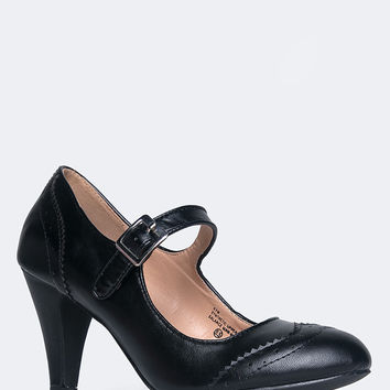 Kym Round Toe Oxford Heel