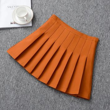 School Uniform High Waist Girls A-line Mini Tennis Pleated Running Women girls