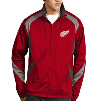 Detroit Red Wings Antigua Tempest Full Zip Performance Jacket – Red
