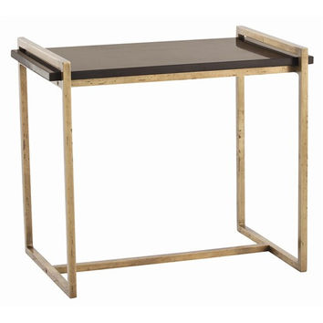 Arteriors Home Hollis Vintage Brass/Marble Side Table