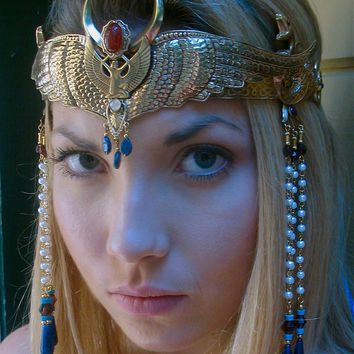 Winged Isis Moon Crown Circlet Tiara