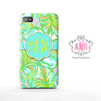 Elephant Ears Lilly Pulitzer Blackberry Case Z10, BB Q10 Case