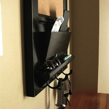 """Custom Listing for Brian - Chalkboard with Mail Slot Cubby and Keyhook Organizer 18""""w  x 22"""" h"""
