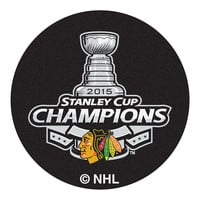 Chicago Blackhawks 2015 NHL Stanley Cup Champions Puck Mat (29 diameter)
