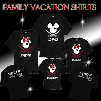 Disney Vacation Family shirts Personalized, Disney  Cruise Shirts, DisneyLand Family Shirts