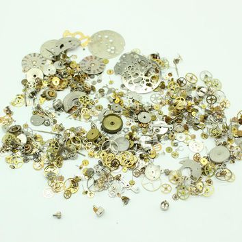 Free Shipping 40g/lot Steampunk Watch Parts Jewelry Altered Crafts Art Cyberpunk Cogs Gears Mixed
