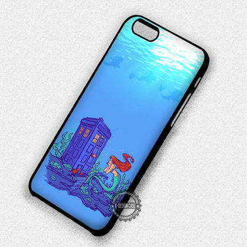 Ariel and Tardis Under The Sea The Little Mermaid - iPhone 7 6 5 SE Cases & Covers